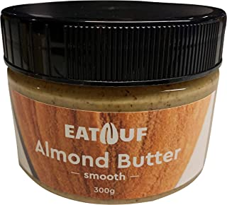 EATNUF's 100% Roasted Almond Nut Butter, Only One Ingredient, No Salt or Sugar Added, Local Guys, 300g Jars