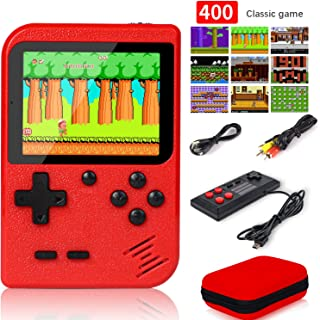 Handheld Game Console with Protector Case,400 Classical FC Games (No Super Mary) 3.0-Inch Screen 800mAh Retro Mini Game Player Rechargeable Battery Support 2 Players and TV Connection
