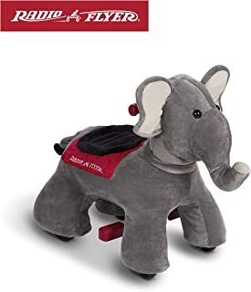 Radio Flyer Peanut Electric Ride-On Elephant with Sounds, Grey