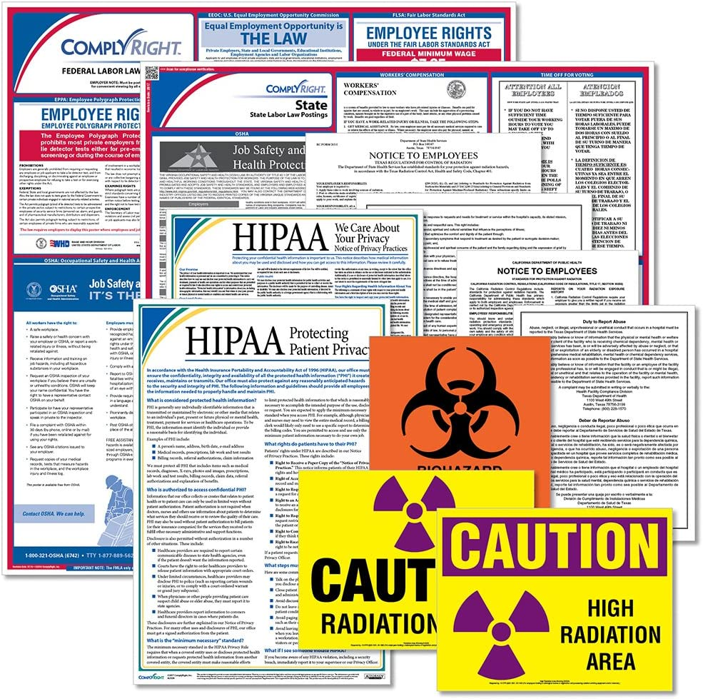 ComplyRight Federal State Healthcare Poster VA Kit Popular brand Virginia 25% OFF -