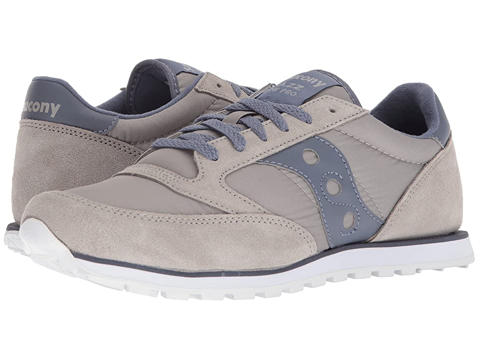 Saucony Originals Jazz Low Pro (Grey/Navy) Men