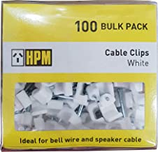 HPM DQ107 8-10mm White Cable Clips Accessory - Cable clips Hook type 8-10mm white pack of 100