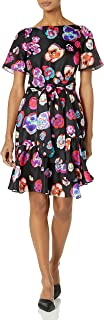Emporio Armani womens Abstract Floral Print Dress Dress
