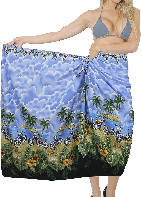 LA LEELA Women One Size Summer Beach Wrap Cover Up Maxi Skirt Sarong Full Long M