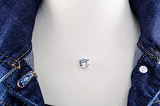 Floating Diamond Cut 10mm Crystal Clear Illusion Necklace, Genuine Diamond Cut Swarovski or Preciosa Crystal, Dainty Durable Illusion Cord, Nickel Free Silver Plated Setting, Three Sizes to Choose!