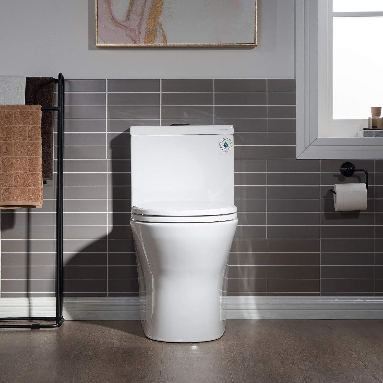 WOODBRIDGE 5% OFF B0500-MB Toilet with Matte Black Button Phoenix Mall