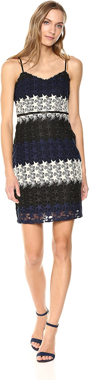 Bebe Womens Multicolord Star Lace Mini Dress Casual Night Out Dress