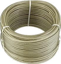 Drahtseil Stahlseil 2//3mm 120m Rostfrei Feuerverzinkt PVC Ummantelt Nirosta Niro