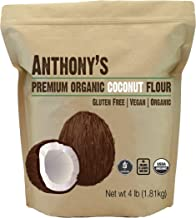 Anthony's Organic Coconut Flour, 4lbs, Batch Tested Gluten Free, Non GMO, Vegan, Keto Friendly