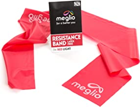 Meglio Resistance Bands 7ft Long Latex Free Skin Friendly – Exercise Workout Bands for Physical Therapy, Pilates Stretchin...