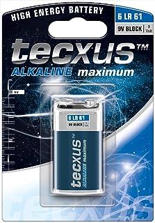 Tecxus 23639 6LR61/6LP3146/9V Block - Alkaline Manganese Battery 9 V