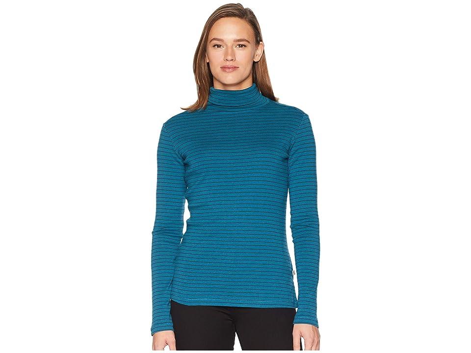 Royal Robbins Kickback Turtleneck (Blue Coral Stripe) Women