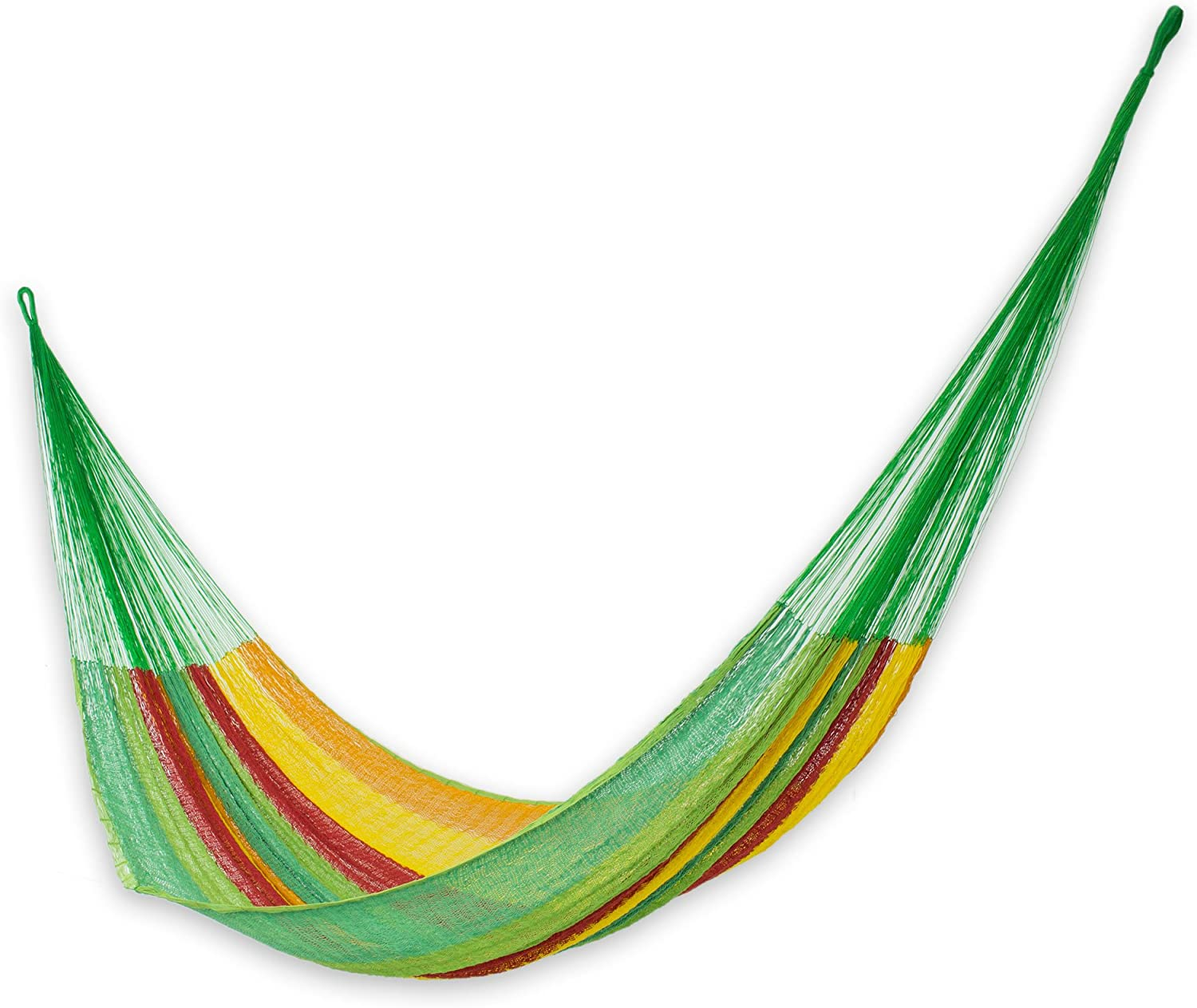 Raleigh Mall NOVICA Green Yellow Red Striped Hand Woven 2 Mayan Complete Free Shipping Cotton Person
