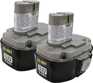 Makita 194158-6 1834 18-Volt 2.6 Amp Hour NiMH Pod Style Battery, 2 Pack