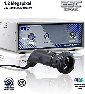 ESC Medicams Endoscopy Camera Hd Rigid Endoscope Ent Medical Surgical Video Endoscopic Unit w/Coupler Adapter 1.2 Mp HDR (Model : 3000U)