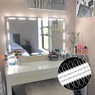 PENSON & CO. Upgraded Led Vanity Makeup Lights Kit, 60 LEDs 9.8FT DIY Make-Up Mirror Light for Cosmetic Mirrors with Remote Control and Power Supply