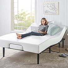 Zinus Queen Bed Frame Adjustable Smart Base Bed Base | Steel Slat Support Furniture