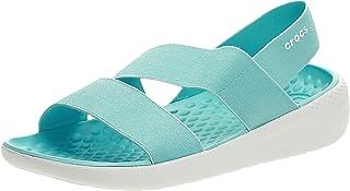 Crocs Womens LiteRide Stretch Sandal, Color: Turquoise, Size: 38/39 EU