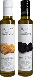 2er Probier-Paket Terre Francescane - Trüffel-Öl - Extra Natives Olivenöl mit dem Aroma von schwarzen und weißen Trüffeln je 250 ml