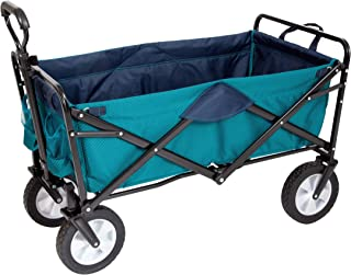Mac Sports Collapsible Folding Outdoor Utility Wagon, Teal - Limited Edition Color