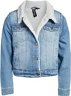 Girls' Denim Jacket with Full Faux Fur Lining