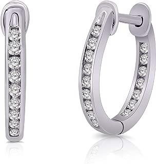 Natalia Drake 1.00Cttw Black /& White Diamond 10K White Gold Double Drop Earrings