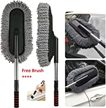 TOUARETAILS Microfiber Flexible Car Cleaning Duster Car Wash Dust Wax Mop Car Washing Brush