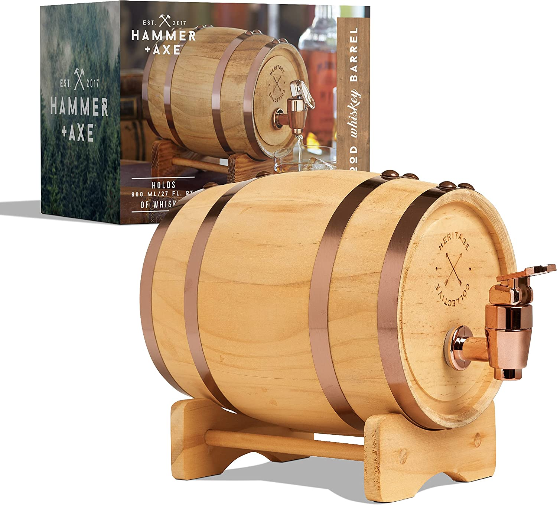 Hammer + Axe Whiskey Barrel 1L, 800ml/27 fl oz Volume