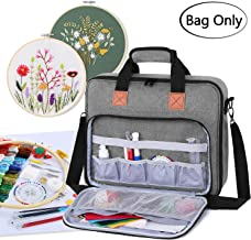 Luxja Embroidery Project Bag, Embroidery Kits Storage Bag (Bag Only), Gray