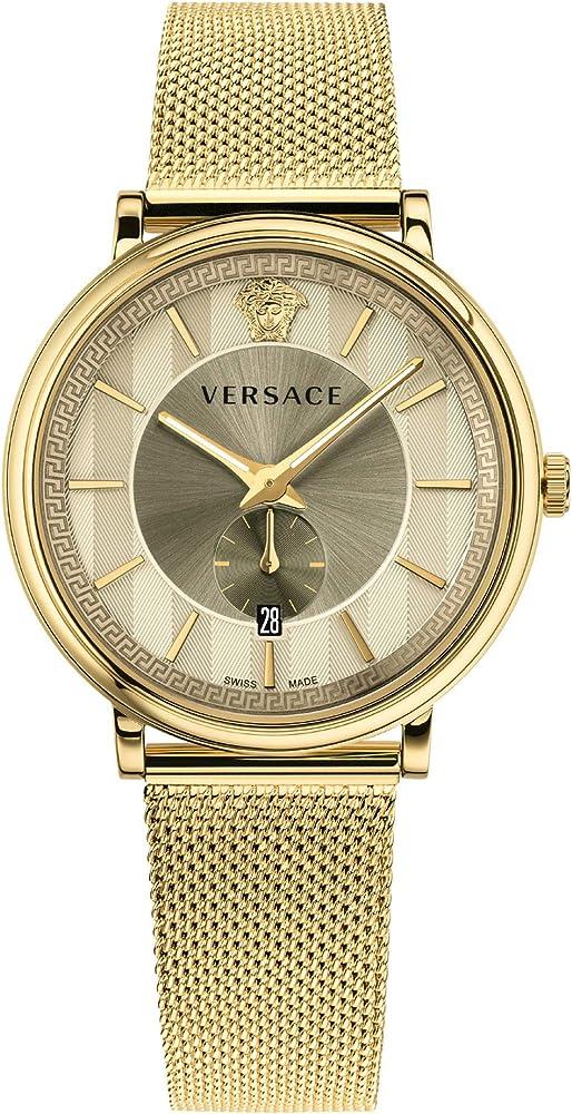 Versace, orologio da uomo v-circle mens watch VBQ070017