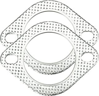 Pack of 20 PitVisit PitShop Ultra Seal 2-Bolt 2.75 Inch Exhaust Flange Gasket High Temperature for Exhaust Turbo Downpipe Catback Headers Heavy Duty Graphite and Stainless Steel 2.75 Inch 70mm