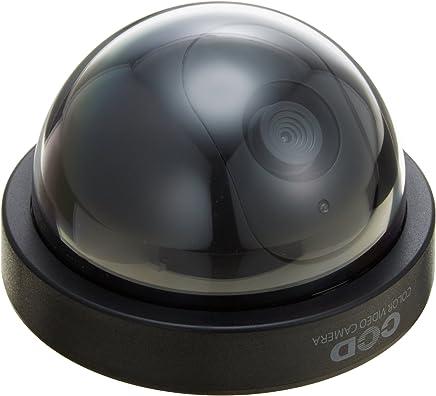 防犯 ダミーカメラ ドーム型 (ブラック) OS-164