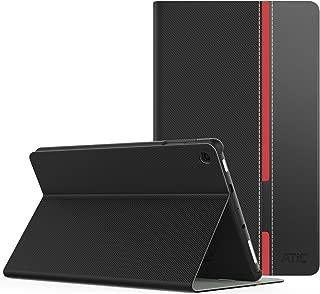 NEW-Fire HD 8 ケース - ATiC Fire HD 8 (第6世代、第7世代、第8世代) 用カバー PCバック 開閉式薄型スタンドケース BLACK