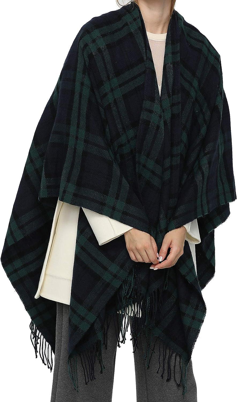 OLALEO Colorado Springs Mall Women's All Season Fashion Detroit Mall Plaid Goodthreads Sweater Cape