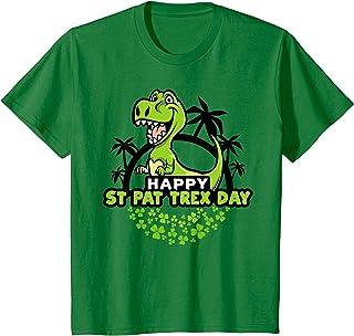 Kids Toddlers Happy St Pat Trex Dinosaur T Shirt Pun Gift