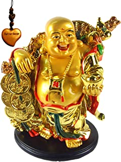 Best laughing buddha with gold ingots Reviews