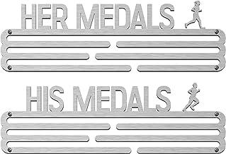 Medal Hangers Bundel (2-Pack): haar medailles & zijn medailles roestvrijstalen medaillehouder.