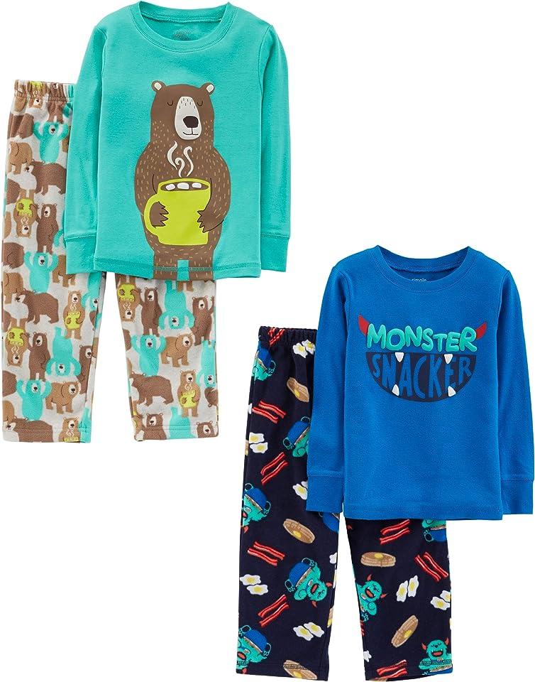 Jungen Pyjama-Set Aus Baumwolle, 4er-Pack