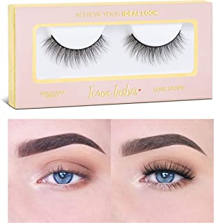 Icona Lashes Premium Quality False Eyelashes | Love Story | Fluffy and Universal for All Eyes | Natural Look and Feel | Re...