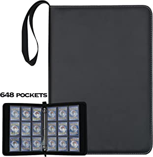 648 Card Binder Compatible with Pokemon Cards, Trading Card Binder Holder Fit for PTCG, YuGiOh!, MTG, Baseball and Sports ...