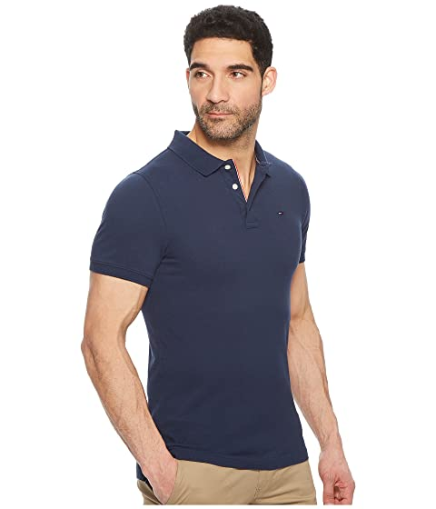 Slim Fit Iris Tommy Polo Bandera Jeans Negro z5ExwqS0