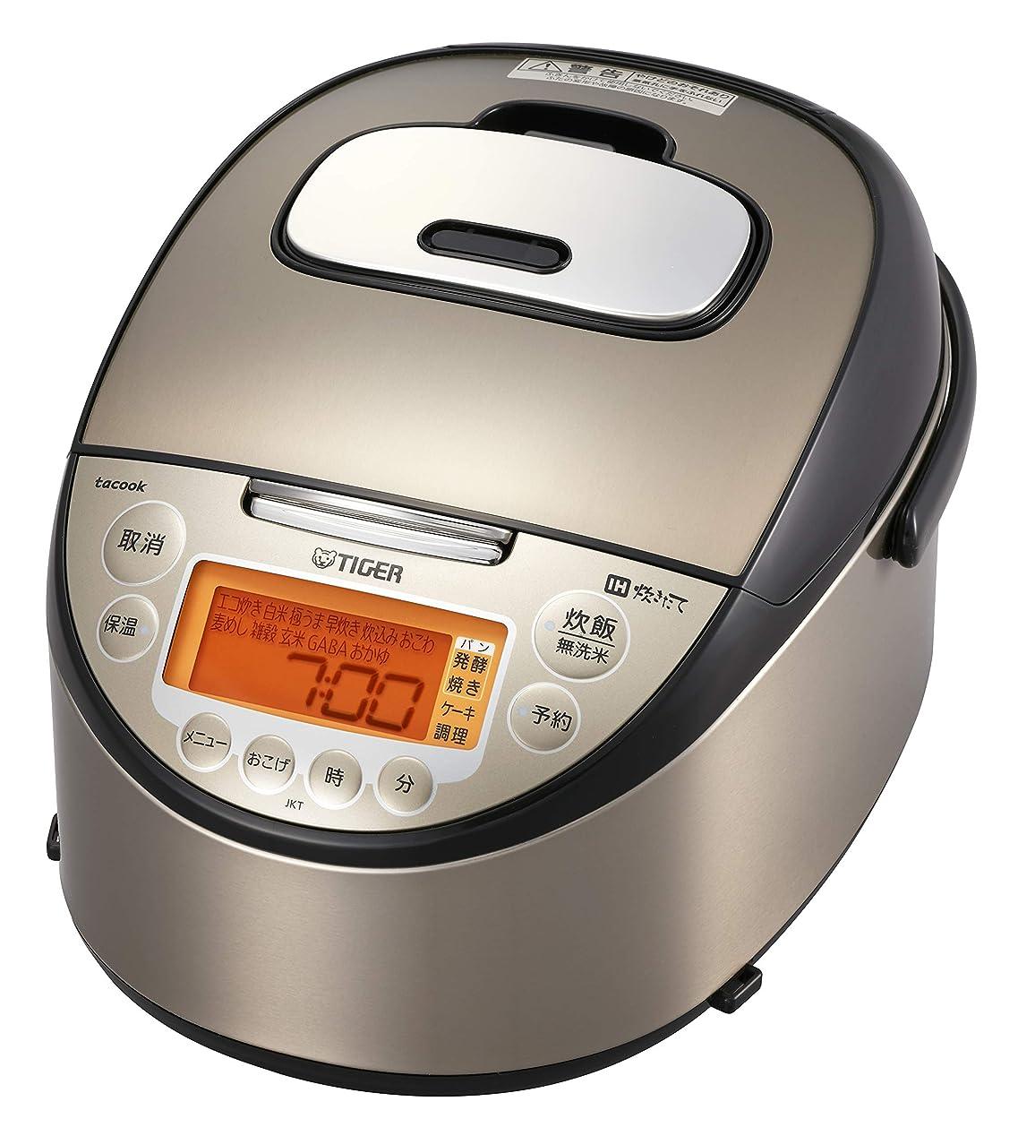 最小サークル歌タイガー 炊飯器  IH 5.5合 炊きたて 同時調理 tacook パールブラウン JKT-J101-TP