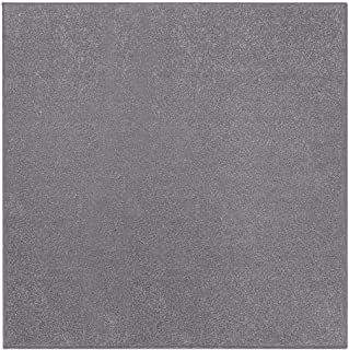 Ambiant Pet Friendly Solid Color Area Rug Grey -3' Square