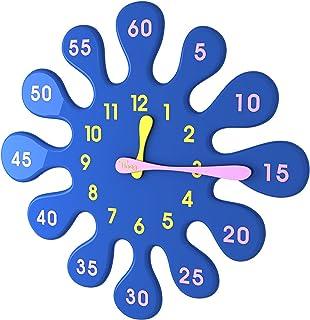 Tong Design 水滴 掛け時計 ブルー 時計の時と分が表示されていて、子供が簡単に時計を読んでい [並行輸入品]