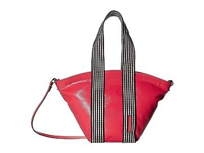 Rebecca Minkoff Mini Fan Tote (Grapefruit) Handbags