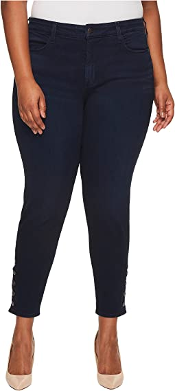 Plus Size Ami Leggings w/ Exposed Buttons in Sinclair