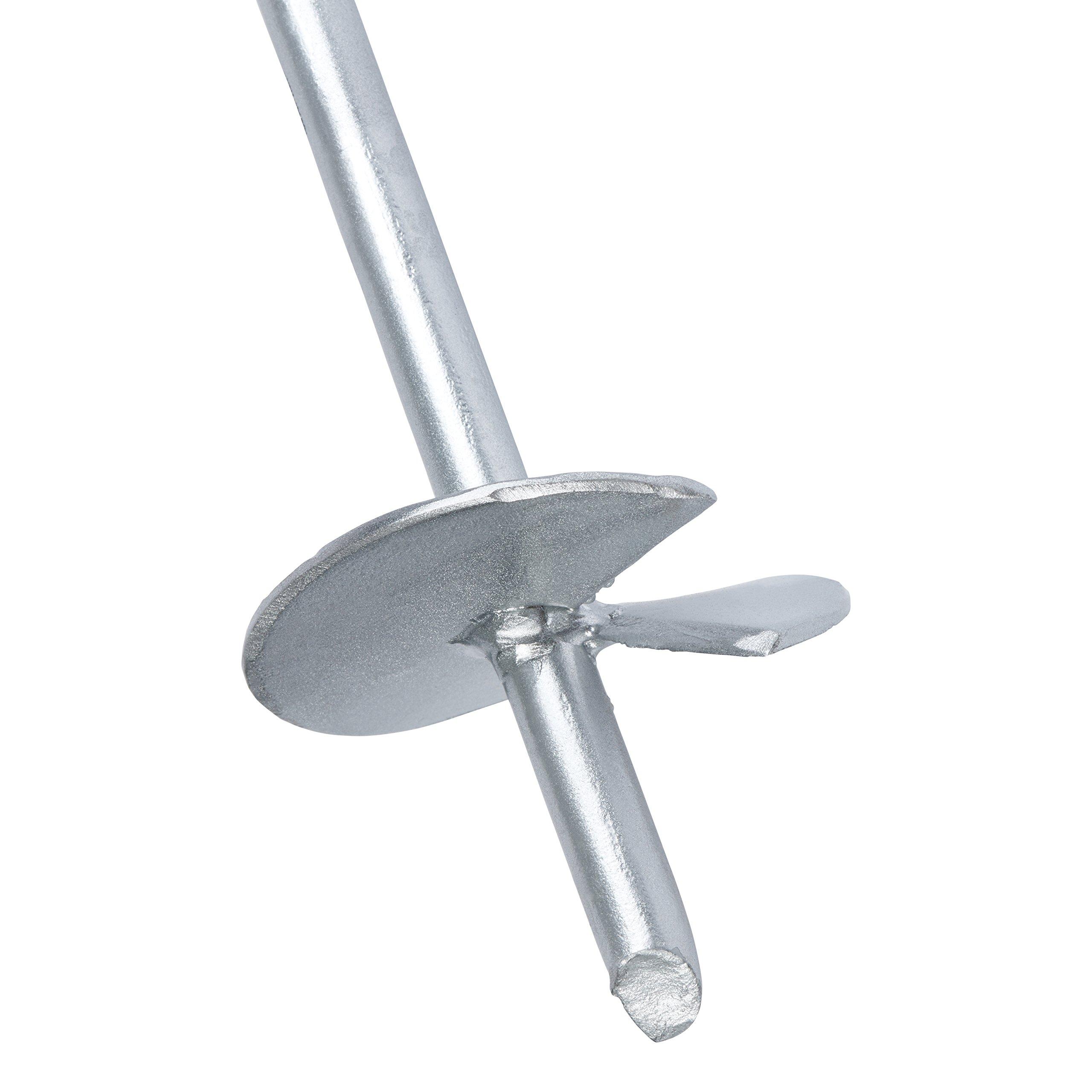Anclaje de suelo para caseta de 45, 72 cm (con revestimiento de ...