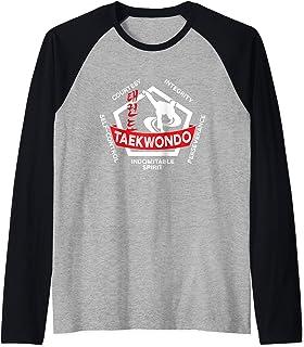 Taekwondo 5 Tenets Martial Arts ATA ITF Gift Raglan Baseball Tee