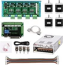 SainSmart CNC Router 4 Axis Kit, TB6600 4 Axis Stepper Motor Driver, Mach3 5 Axis Breakout Board, 4pcs Nema23 270oz-in Motor