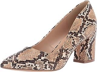 حذاء نسائي مطبوع Penny Loves Kenny ، ثعبان صناعي طبيعي، عرض 8 أمريكي